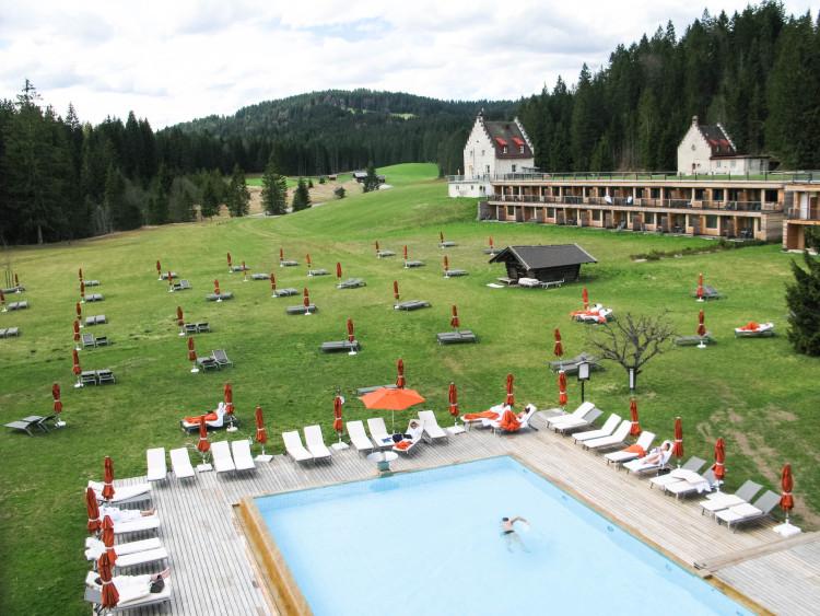 Kranzbach Außenpool von oben