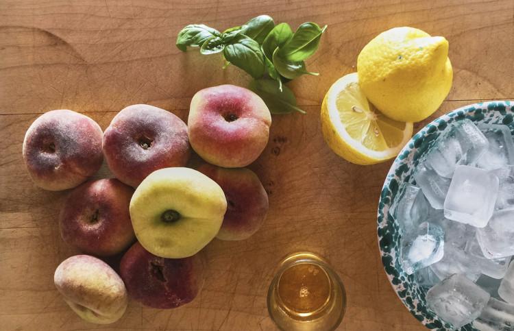 Plattpfirsich Zitrone Eis Froozie Zutaten 1