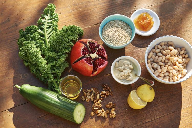 Superfood-Gruenkohl-Salat Zutaten