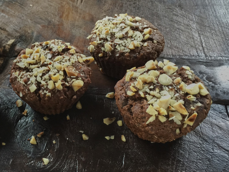 Vegane Erdmandel-Schoko-Muffins 2