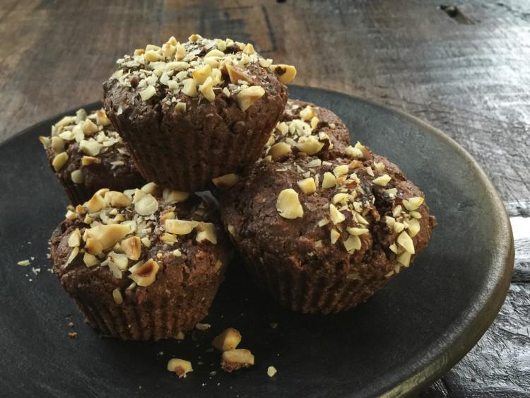 Vegane Erdmandel-Schoko-Muffins 3