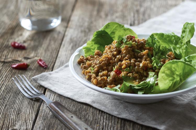 linsensalat-asiastyle-koriander-vegan-partybuffet-partysalat