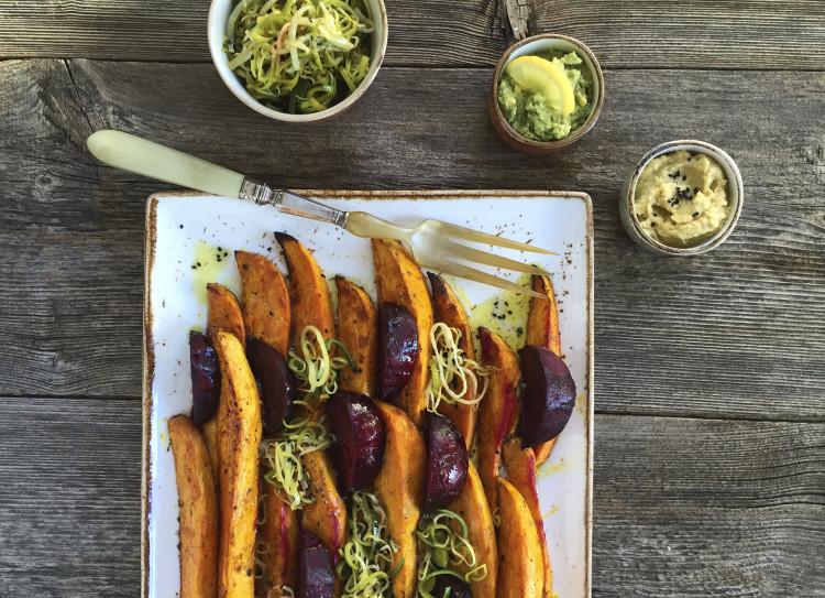 Suesskartoffel-Wedges
