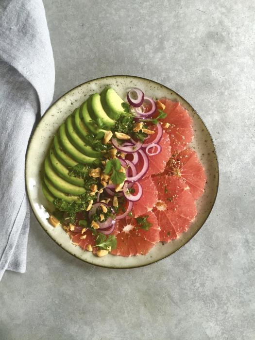 Avocado-Grapefruit-Salat