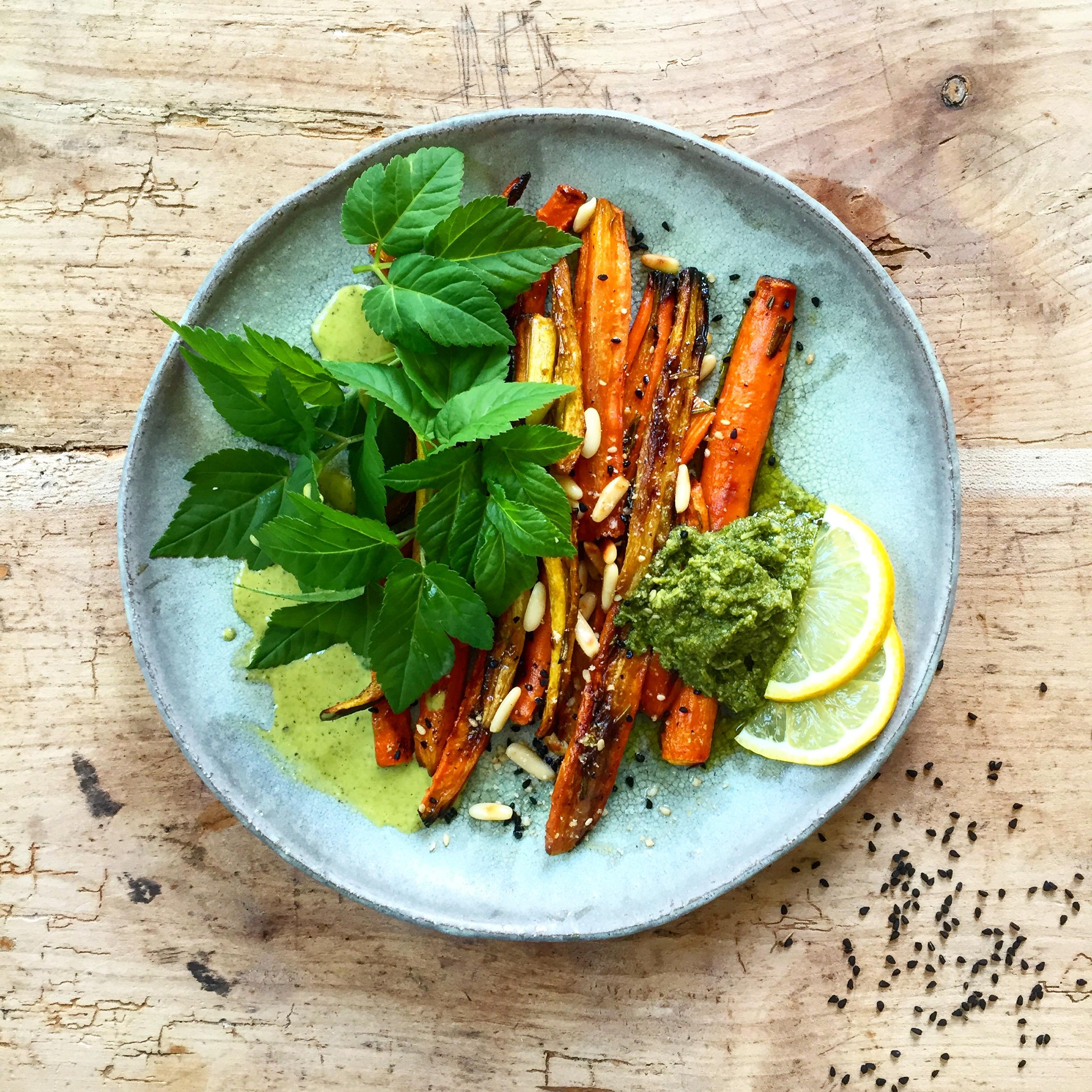 Gierschpesto mit Karotten