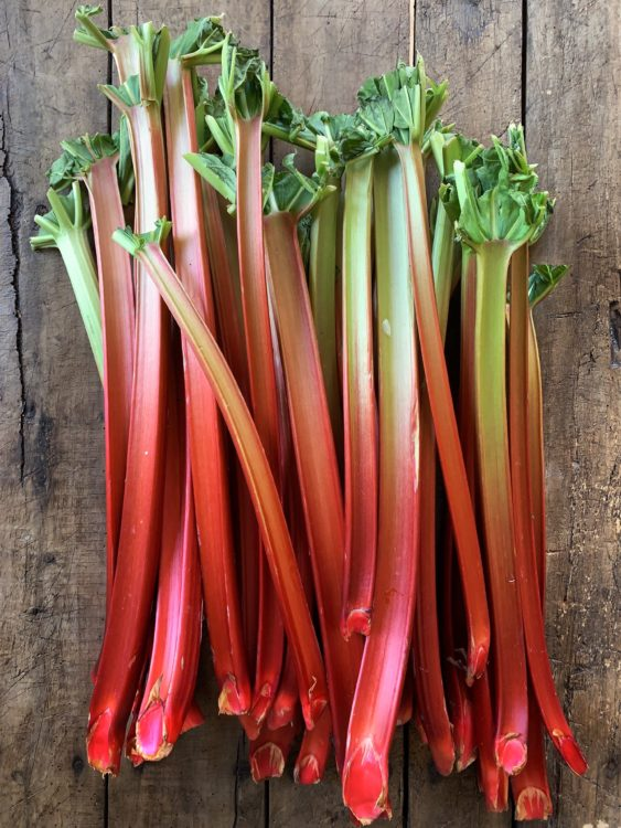 rhubarb-stalks-raw-on-wooden-background